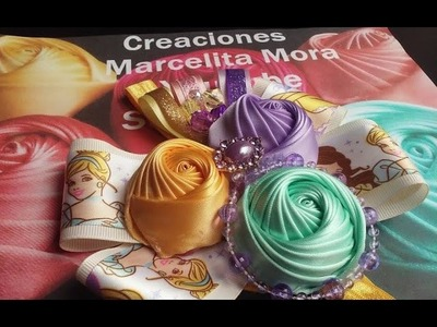 Princess Disney Tiara con Flor Torbellino Liston- How to make Princess Disney Headband-DIY-EASY.