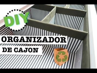 COMO HACER ORGANIZADOR DE CAJON DE CARTON RECICLADO | FACIL