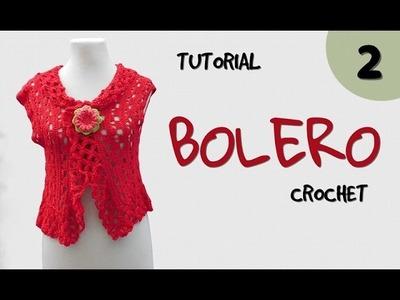 Como tejer bolero a crochet en varios talles (2.2)