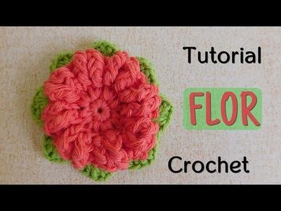 Como tejer una flor a crochet