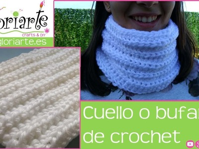Cuello o bufanda de ganchillo. Neck or crocheted scarf.