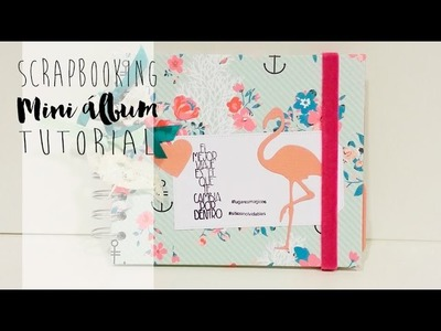 Mini álbum de scrapbooking video TUTORIAL (libreta para regalo)