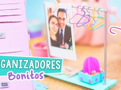 MINI ORGANIZADORES DE ESCRITORIO Super Lindos y Fáciles [ Casillero + Perchero ] ✄ Craftingeek