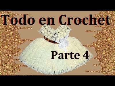 Vestido de flores en crochet parte 4 de 4