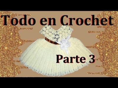Vestido de flores en crochet parte 3 de 4
