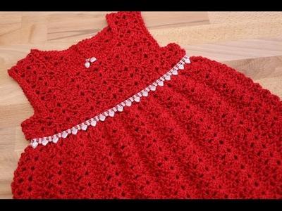 Vestido para bebe 6-12 meses crochet