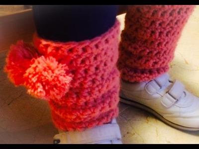 5 Aprendamos juntos: Pompones 2. 2 calentarores niña. Medio punto a crochet