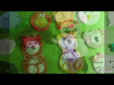 Aplique  tejidos a crochet