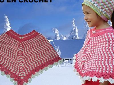 Capa - poncho en crochet parte 2 fácil y rapido