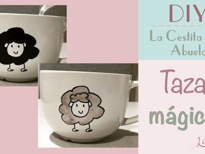 Cómo hacer tazas mágicas que cambian de color ♥  Laura DIY