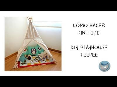 Cómo hacer un tipi - DIY playhouse teepee