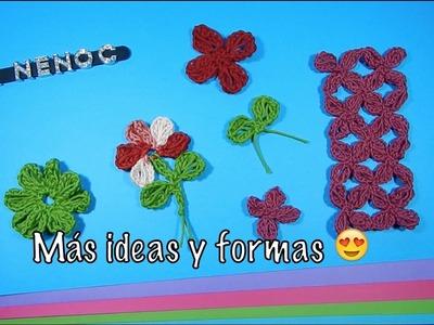 Como unir flores o motivos punto alargado ganchillo, crochet joining flowers motifs DIY