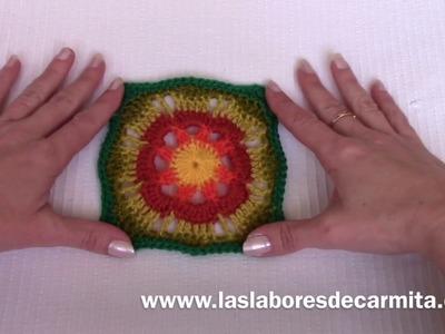 Crochet en español cuadrado de la abuelita