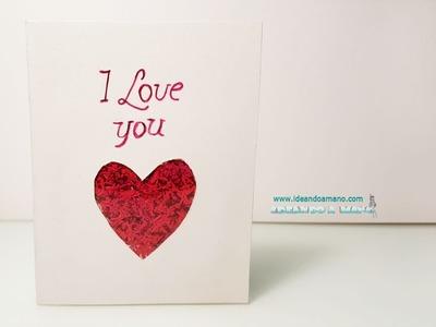 DIY tarjetas de San Valentín