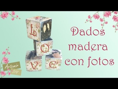 Foto transfer Cubos con fotos - Regalos San Valentin DIY