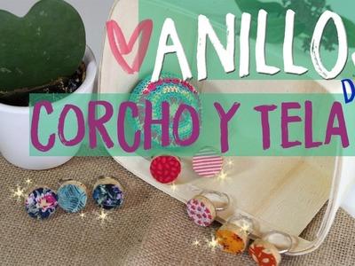 ¡¡Tutorial fácil para hacer anillos de manualidades con corchos y tela!! #umamanualidades