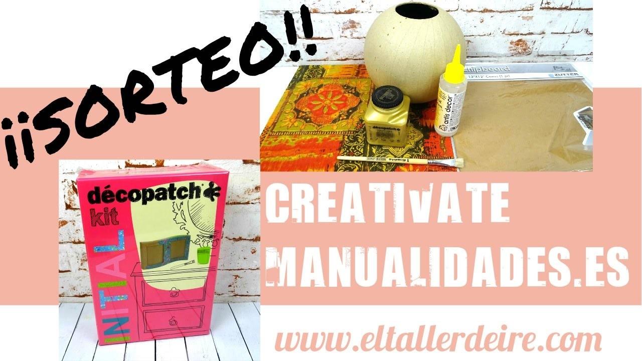 MATERIALES DE MANUALIDADES + ¡¡SORTEO!! con CREATIVATE MANUALIDADES (CERRADO)