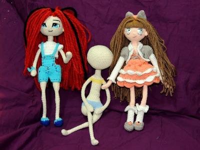 Muñeca Articulable a Crochet - Parte 5: Tronco. Unión de las extremidades
