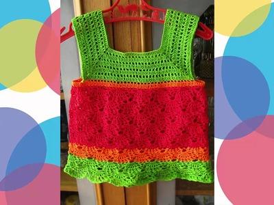 Vestidos a crochet de niña 3 6 9 12 meses