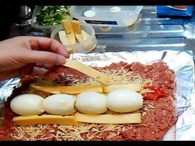 Arrollado de carne la receta mas fácil y deliciosa