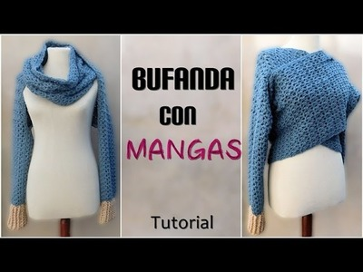 DIY Como tejer una bufanda con mangas