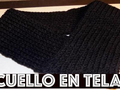 DIY CUELLO TEJIDO EN TELAR