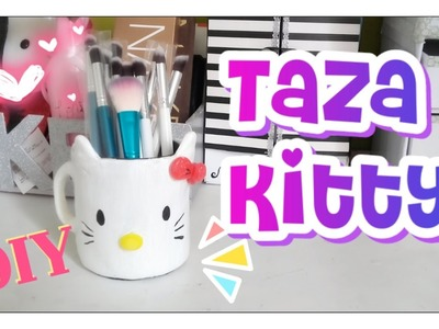 DIY PORTA BROCHAS DE HELLO KITTY
