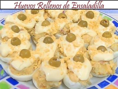 Huevos rellenos de ensaladilla   Receta de Cocina en Familia