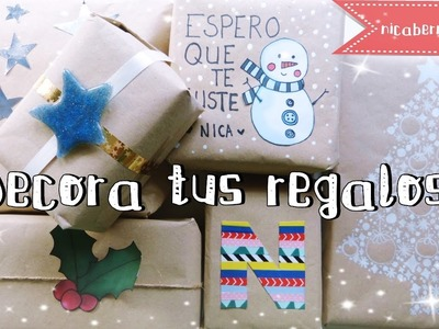 IDEAS PARA DECORAR y ENVOLVER REGALOS