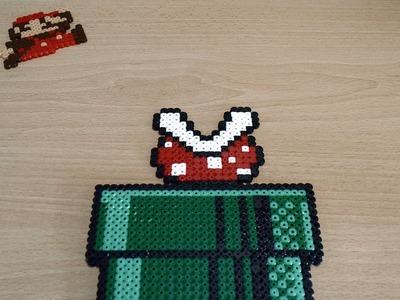 Mini Tutorial - Cómo plantar una planta piraña de Super Mario Bros con hama.perler beads