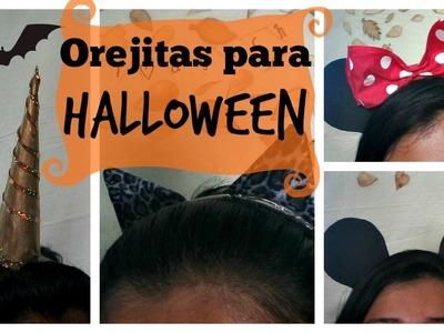 Orejas para Halloween ♥ 4 Ideas Fáciles