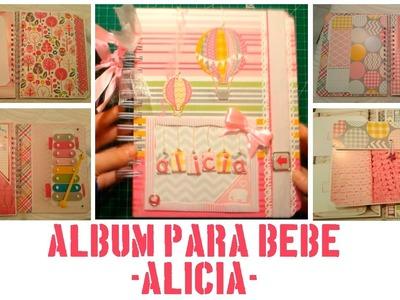 Scrapbooking: Álbum para bebé - Alicia