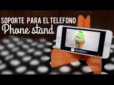 SOPORTE PARA TELEFONO O TABLET | MUY FACIL & RECICLANDO