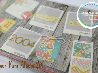 Tutorial Mini Album Scrapbook Mi primer album de 2017* Creaciones Izzy