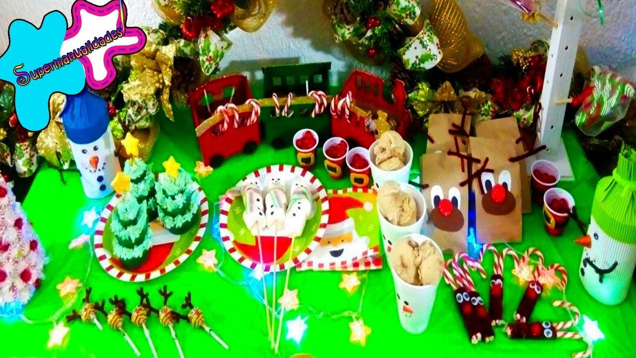 7 ideas navideñas para una mesa de dulces o candy bar
