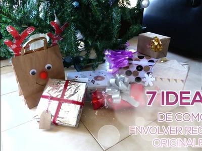 7 IDEAS originales para envolver tus regalos de NAVIDAD DIY - #Nocambiesdetema