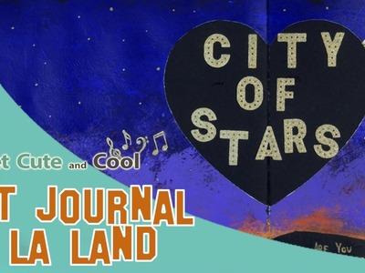 Art Journal 4: La la land (acrilico, dylusions, sellos)