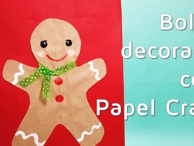 Cómo decorar bolsas de regalo con papel kraft para Navidad| facilisimo.com