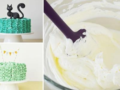 Crema de Manteca de Merengue ✩ 2 Decoraciones de Tortas || Para rellenar y decorar tortas y cupcakes