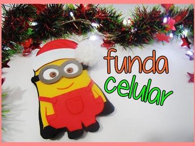 Diy navidad #5 - funda para celular en foami- minion navideño
