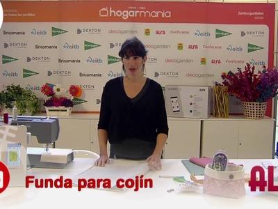 Feria Hogarmania: hacer una funda para un cojín