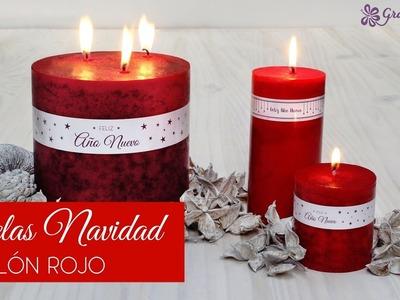 Hacer velón rojo para Navidad