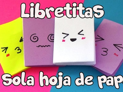 Libretas fáciles con UNA sola hoja! Easy Notebooks just one sheet of paper!