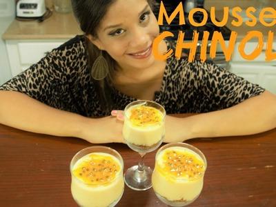 Mousse de Chinola.Maracuyá con pocos Ingredientes