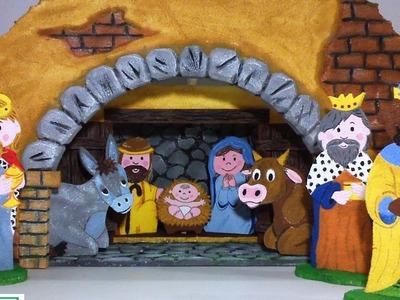 Nacimiento Niño Jesús, Belén en Icopor