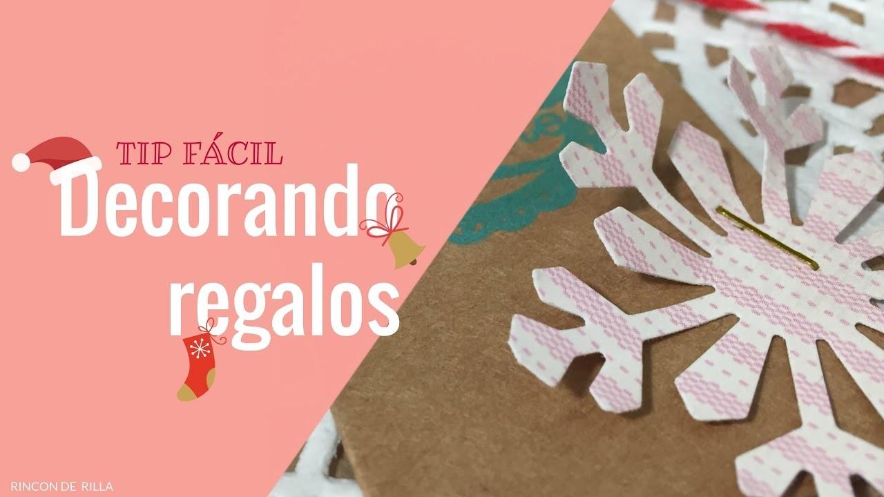 Scrapbooking. Decorando Regalos (Tip). Como decorar un regalo, rápido, fácil y con pocos materiales.