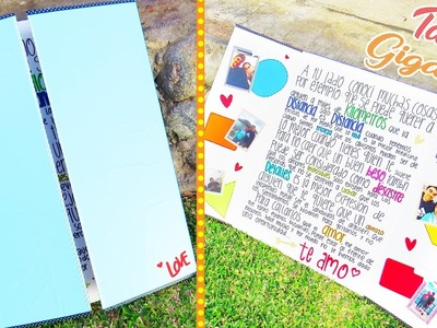 Tarjeta gigante para novio ♥ tutorial - Mariana lugo