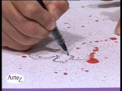 Técnica mixta con acuarelas y tintas