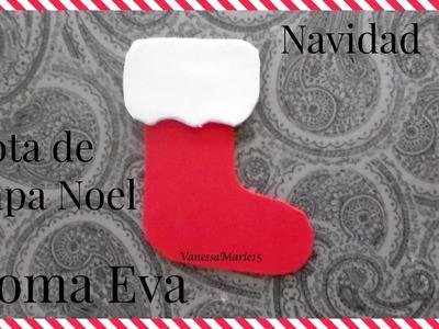 Tutorial: Adorno Navideño Bota de Papa Noel-Goma Eva (Foamy) | Navidad