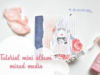 Tutorial mini álbum mixed media boho dreams Parte 1